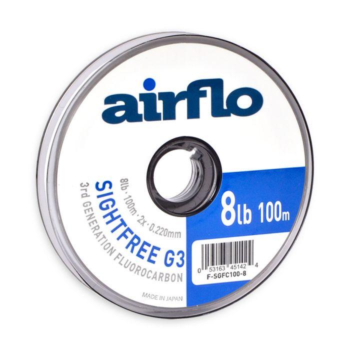 Airflo Sightfree Supple Fluorocarbon 50m Various Breaking StrainsNEW